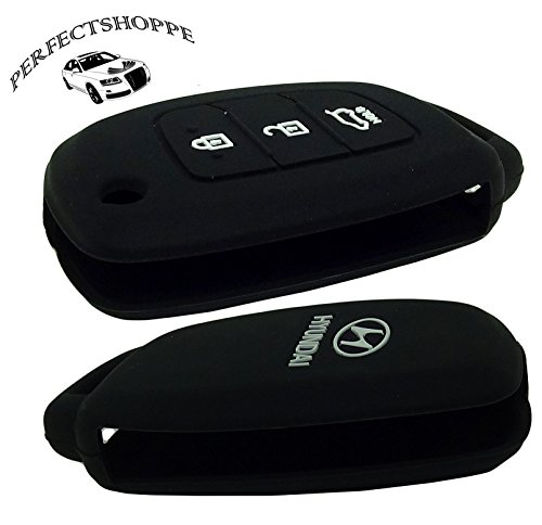 PERFECT SHOPPE Silicon Keycover for Hyundai Creta/ I20elite/Active/grand i10/ New Verna/ Xcent/Verna fluidic/ Accent Flip key only (Black)  available at amazon for Rs.169