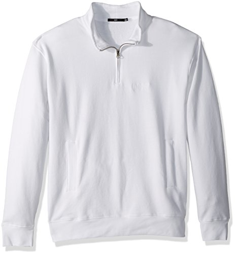 Weiß Mock Neck (Obey Herren Automatic Mock Neck Zip Sweatshirt, weiß, Groß)