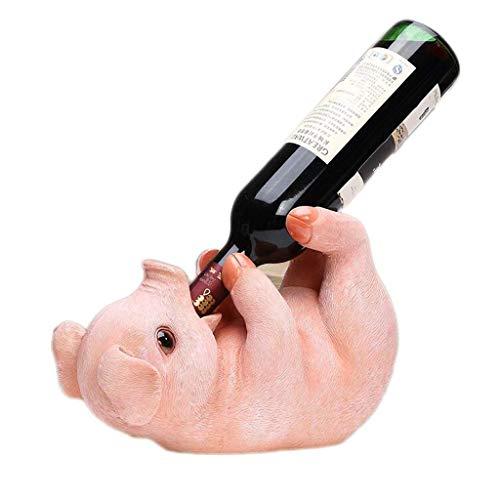 ZGHongshop Kunst Weingläser Rack Dekorationen Weinregal Kreative Nette Schwein Weinregal, Europäischen Wohnzimmer Weinschrank Hause Veranda Weinflaschenregal Weinregal