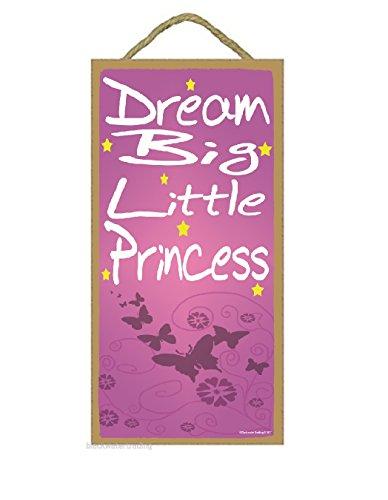Blackwater Trading Papillons Dream Big Petite Princesse Enfants Chambre d'enfant bébé Panneau de Chambre 25,4 x 12,7 cm