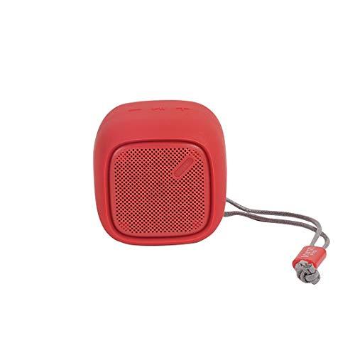 Vieta Pro Hubbie - Altavoz inalámbrico portátil, con bluetooth, resistencia al agua ipx4, con una batería de 4 horas y acabados en color rosa rojo