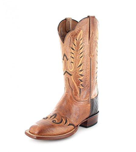 Lucchese  Madison, Bottes et bottines cowboy femme Marron - Tan