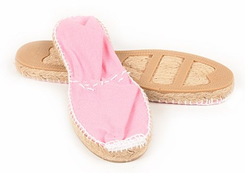 MADE IN SPAIN , Espadrilles pour femme Rose