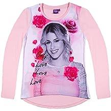 Disney Violetta Ragazze Maglietta maniche lunghe 2016 Collection - rosa