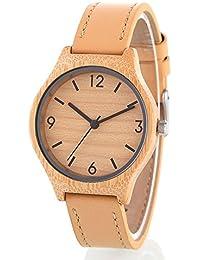 Reloj de madera tabla de sándalo de bambú natural hombres de alto grado reloj y las mujeres relojes de negocios reloj de moda casual