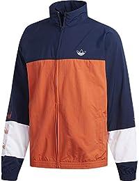 Adidas Retro Trainingsjacke schwarz orange
