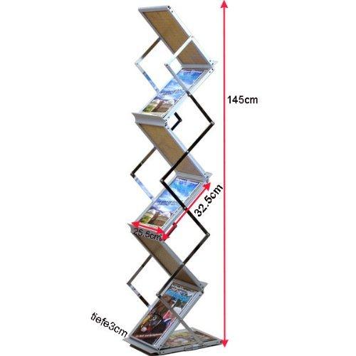 Loywe faltbarer Prospektständer Katalogständer im Holz-Design LW3523