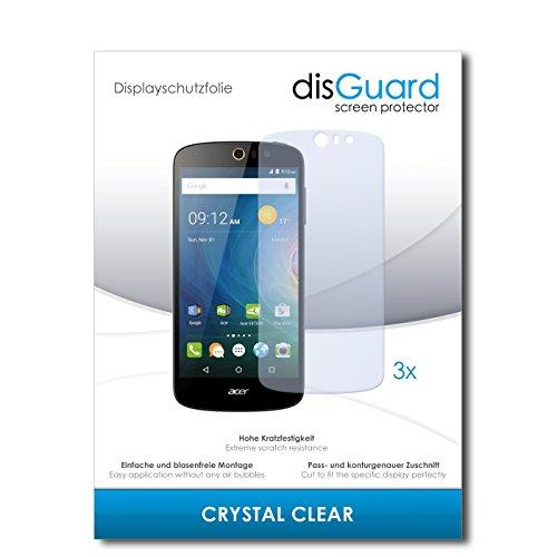 disGuard® Bildschirmschutzfolie [Crystal Clear] kompatibel mit Acer Liquid Z530 [3 Stück] Kristallklar, Transparent, Unsichtbar, Extrem Kratzfest, Anti-Fingerabdruck - Panzerglas Folie, Schutzfolie