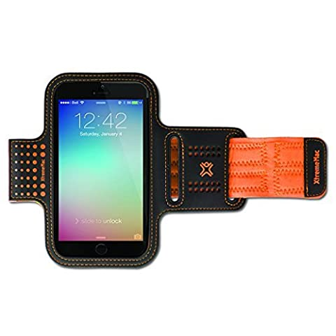 XtremeMac Neoprene Sports Armband Case Cover for Apple iPhone 6 and Samsung Galaxy S5 - Orange