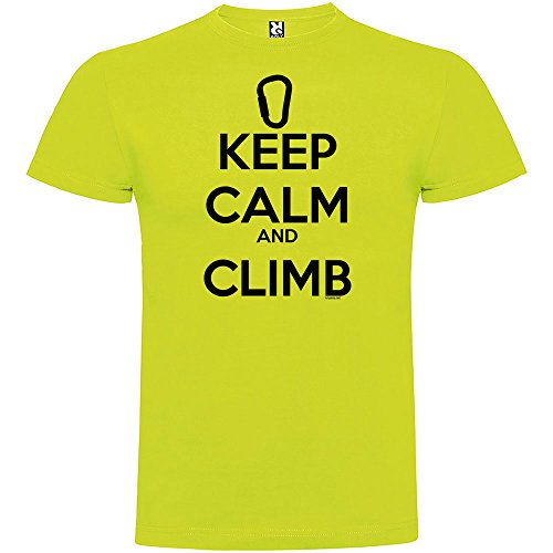 Camiseta Escalada Keep Calm and Climb Manga Corta