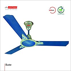 JANAKI HUNTER 1200mm Sweep 50-Watt Ceiling Fan (Blue Pack of 2)