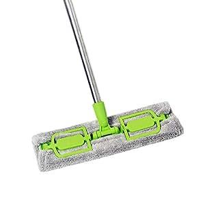Mocio pavimento, panno pavimento in microfibra altezza testa regolabile e separabili.