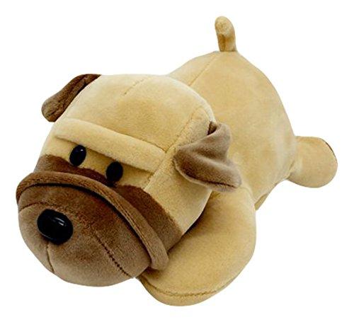 Good Night Cartoon mentir petit chien en peluche poupée jouet pour la décoration, 25cm