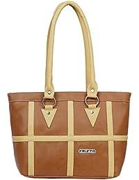 Fristo Plus1 Women's Handbag(Tan And Cream)