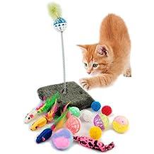 BPS® Paquete de Juguetes para Gatos Gatito Juguetes Interactivo Juguete de Atracciones Colores se envia