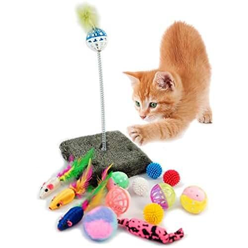 regalos kawaii gato BPS® Paquete de Juguetes para Gatos Gatito Juguetes Interactivo Juguete de Atracciones Colores se envia al Azar BPS-3264*1
