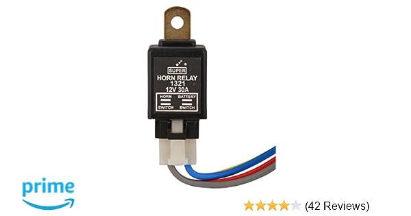 Super 1321 4-Pin Electronic Horn (12V) on