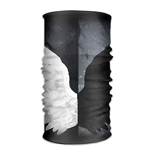 Preisvergleich Produktbild Uosliks Black White Angel Wings Fashionable Outdoor Hundred Change Headscarf Original Multifunctional Headwear