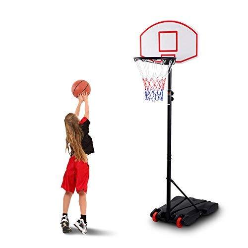 COSTWAY Basketballständer Basketballkorb mit Ständer Basketballanlage Korbanlage höhenverstellbar von 178 bis 208cm transportabel