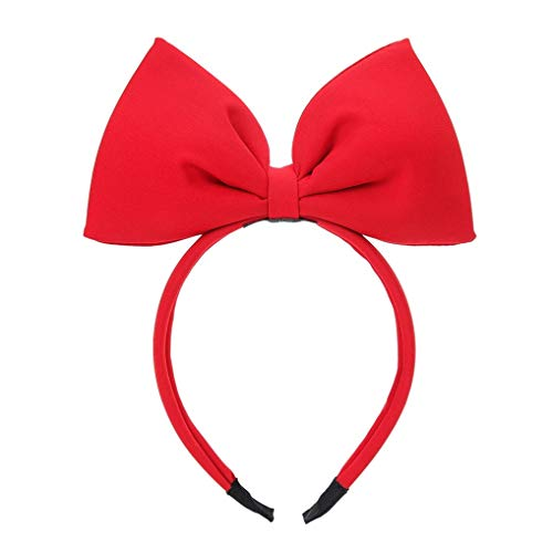 Fitchhal Rational Stylish 3Pcs /Bag Bow Headband Big Bow Hair Hoop Cute Girls Kids Party Dekoration Kopfschmuck Cosplay Kostüm Kopfbekleidung(None 3 color - Big Hair Kostüm