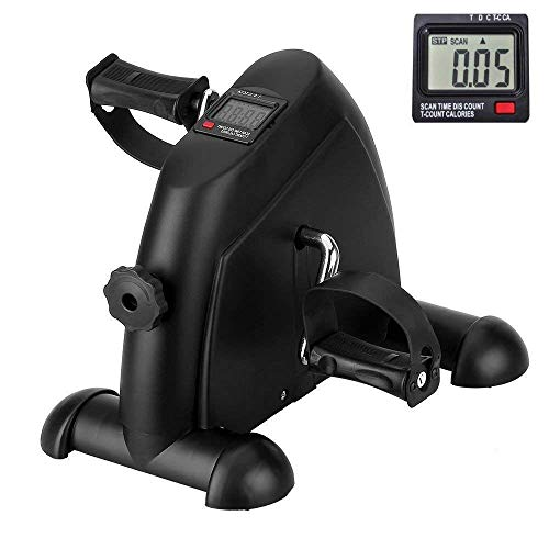 Zofey Portable Mini Home Pedal Cycle Gym Fitness Exerciser with Adjustable Resistance LCD Display for Leg, Arm Cardio Training (Medium, Black)