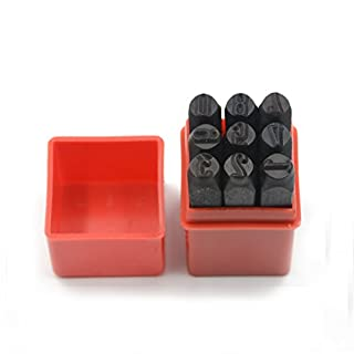 Marking Stamps Steel Hand Metal Set Punch Letters Alphabet & Numbers Die Tool Craft in Plastic Case (8mm Number)
