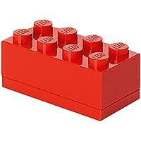 LEGO 40121730 - Caja de almacenaje (8 compartimientos), diseño pieza, color rojo