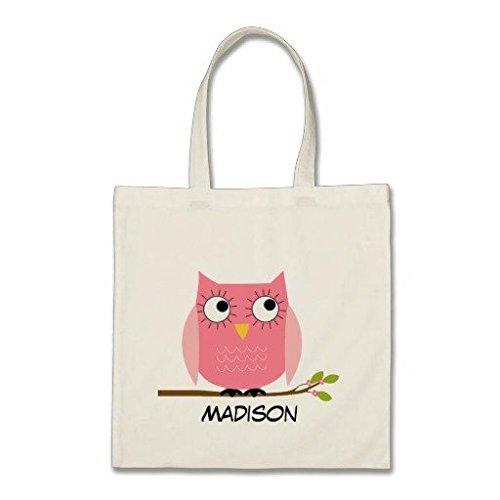 personalisierte-kinder-rosa-eule-baumwolle-canvas-tote-bag
