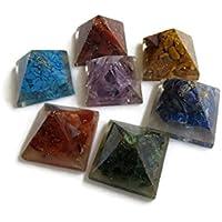 Set 7Chakra Stein Energetische Pyramide Pendel, spirituelle Heilung Stein Kit, Multi Edelstein Pyramide, Heilung... preisvergleich bei billige-tabletten.eu