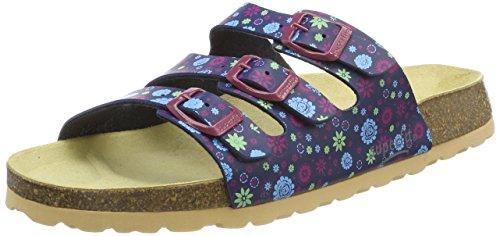 Superfit Mädchen Fussbettpantoffel Pantoffeln, Blau (Ocean Kombi 81), 29 EU