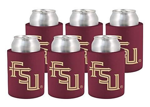 Kolder Licensed Inc. Beverage Insulator 6 Pack Florida State Seminoles Phoozie Set, Garnet/Gold, 12 Oz