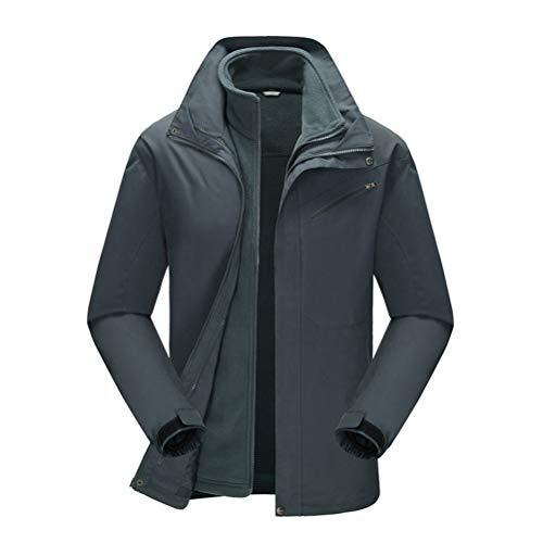SJZC Veste Coupe Homme Ski Manteau Hommes Blouson De Impermeable Vent Pas Cher Hivers Pluie Survetement030,Gray,XL