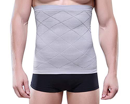 Männer Eng anliegender Bauch mit einem atmungsaktiv geformten Taillengürtel-Trainingsgürtel Grau M