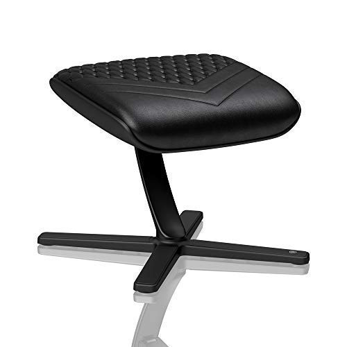 noblechairs Fußstütze für Gamingstühle/Bürostühle - Echtleder - Schwarz
