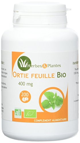 Herbes Et Plantes Ortie feuille Bio 200 Comprimés 400 mg