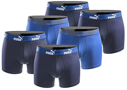 Puma 6er Pack Boxershort Größe L Herren Basic Black Limited Edition Triple Blue (Edition-stoff Limited)