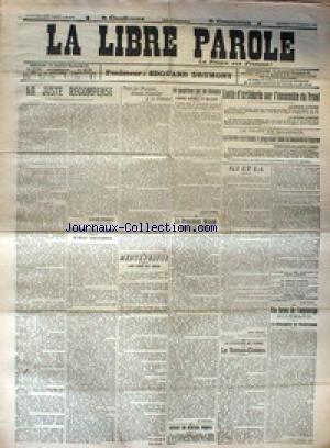 LIBRE PAROLE (LA) du 01/11/1916 - LUTTE D'ARTILLERIE SUR L'ENSEMBLE DU FRONT - WILSON SERAT-I-L REELU - UNE FORME DE L'ESPIONNAGE ALLEMAND - LE ROMAN-CINEMA. par Collectif