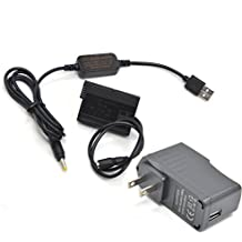 Vitesun USB5V-DC8.4VDrive Mobile Power Supply Charger USB Cable Kit + EN-EL15 MB-D15 Battery EP-5B DC Coupler for Nikon V1 D7200 D7100 D810 D800E D750 D610