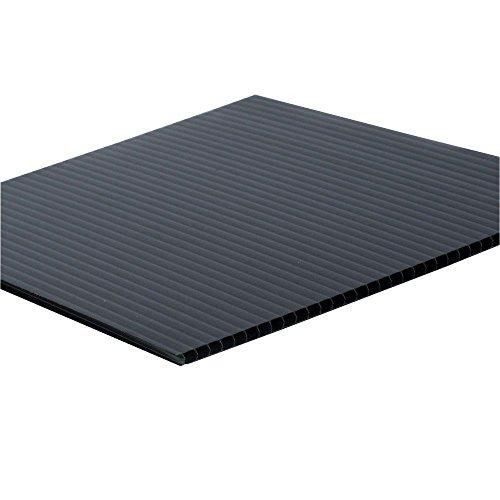 5 Blatt A1 schwarze Correx Folie für display, Folie, Kunststoff, Geriffelt, 840 mm x 600 mm