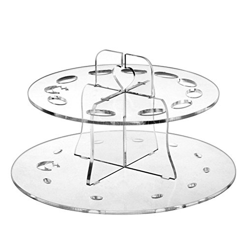 Transparent Acryl Kosmetik Werkzeug machen 10 Loch Oval Make-up-Pinsel Halter Trocknen Rack Organizer Kosmetik Regal Werkzeug Double Layer Beauty