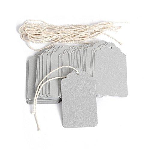 Obling carta carta artigianale rettangolo etichette per bagagli etichette per regali di nozze tag shop price tag confezione da pezzi 4*7cm silver