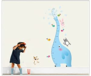 UberLyfe Elephant Growth Height Chart Wall Sticker - 5.2 Ft. Size 4 (Wall Covering Area: 133cm x 77cm) - WS-111