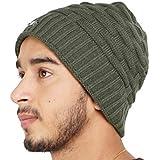 DELHITRADERSS® Mens Winter Beanie Hat Warm Cuff Knit Ski Skull Cap(Green)