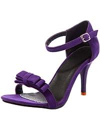 DULEE Damen und Dame Stiletto High Heel Sandalen, Lila 41