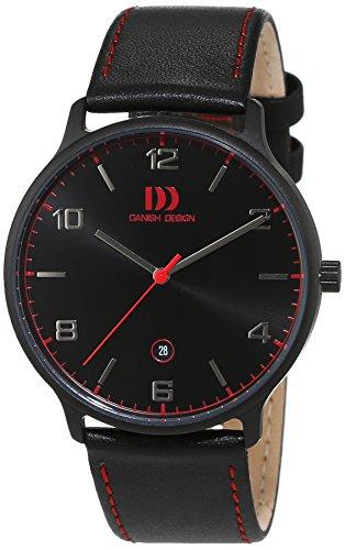 Danish Design uomo-Orologio da polso al quarzo in pelle 3316340
