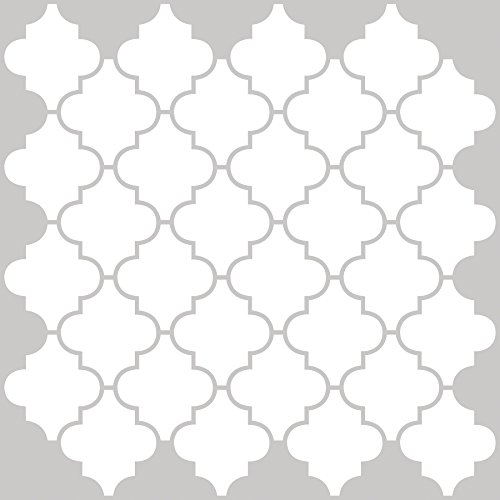 Inhome nh2360Vierpass-Schälen und Stick Duett Fliesen, weiß/creme