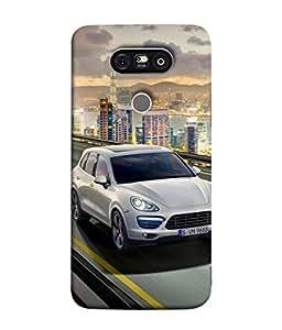 PrintVisa Designer Back Case Cover for LG G5 :: LG G5 Dual H860N :: LG G5 Speed H858 H850 VS987 H820 LS992 H830 US992 (Lovely posh car white grey running driving)