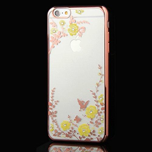 Phone case & Hülle Für iPhone 6 Plus / 6s Plus, Blumen Muster Galvanisieren Soft TPU Schutzhülle Fall ( SKU : IP6P0010E ) IP6P0010E