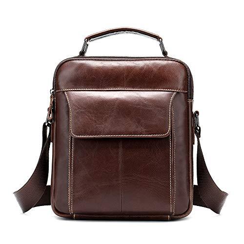 c54c9f33fc BAIGIO Borsello Uomo Tracolla Pelle Marrone, Borsa a Tracolla Vintage Borsa  a Spalla Messenger Bag
