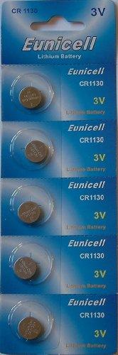 Eunicell Lithium-Batterie CR1130 3V, 5 Stück